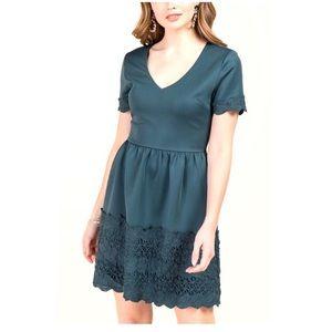 FRANCESCAS Ainsely Lace Trim A-Line Dress